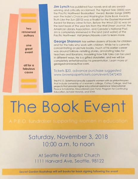 The Book Event - A P E O  Fundraiser supporting Women In